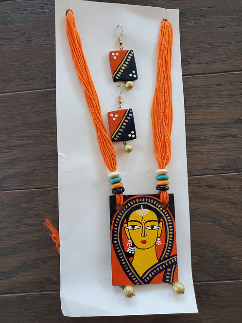 Handcrafted,  Handpainted Jewelry Set