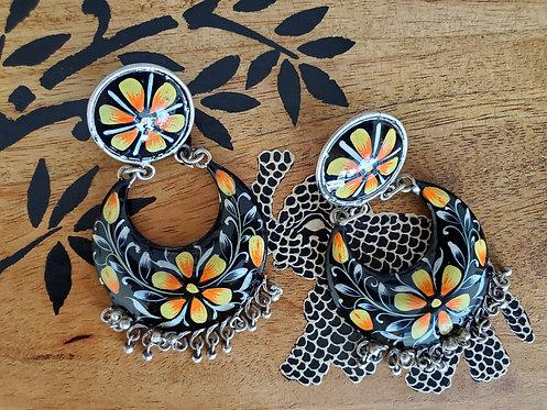 Painted Black Earrings