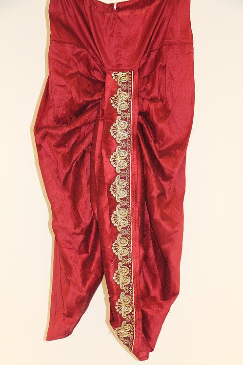 Marron Color Men's stitched dhoti
