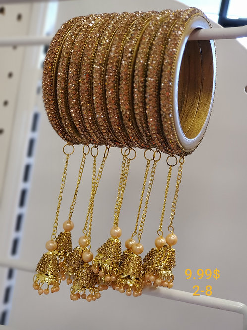 Gold color Lac Bangles