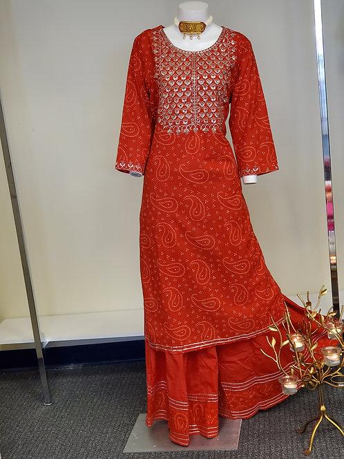Cotton Red Suit / Dress