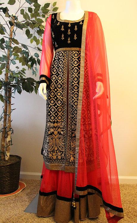 Anarkali with long Jacket