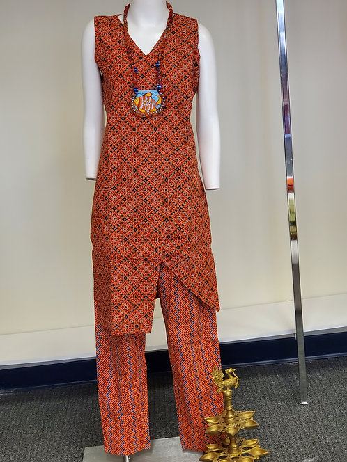 Beautiful Azrak Print Dress