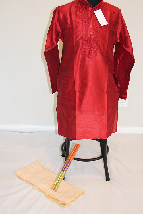 Mehroon Kurta set with Embroidery