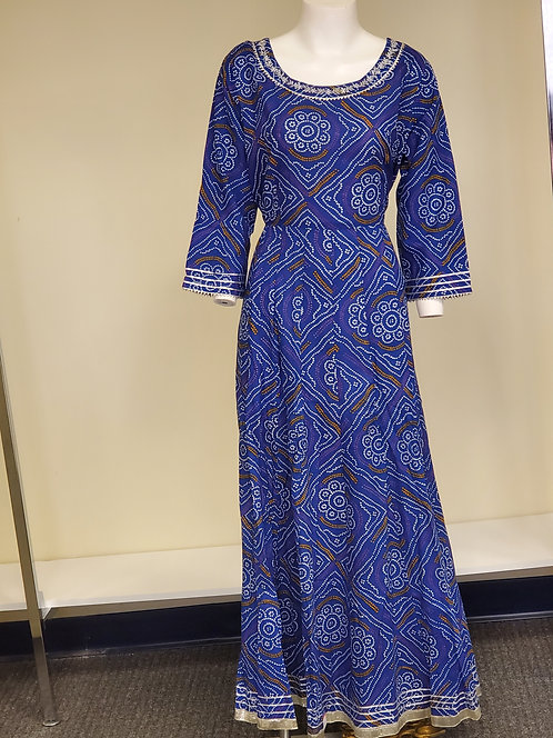 Cotton Bandhini Print Anarkali / Dress