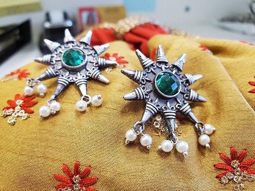 German Silver Earrings / Topd