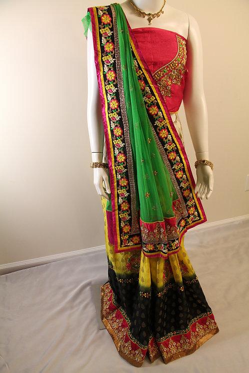Gorgeous Half and Half Lehenga  Style Saree