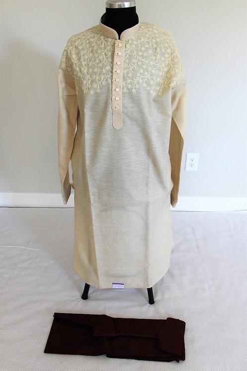 Men's Cotton Kurta set / attire with Embroidery