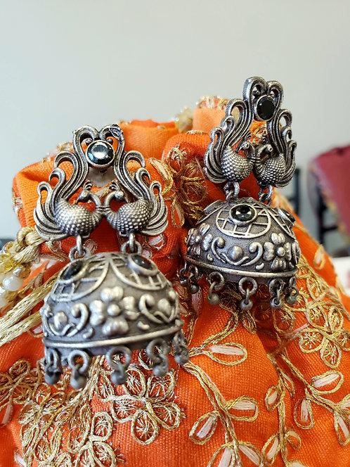 German Silver Earrings / Jhumkis