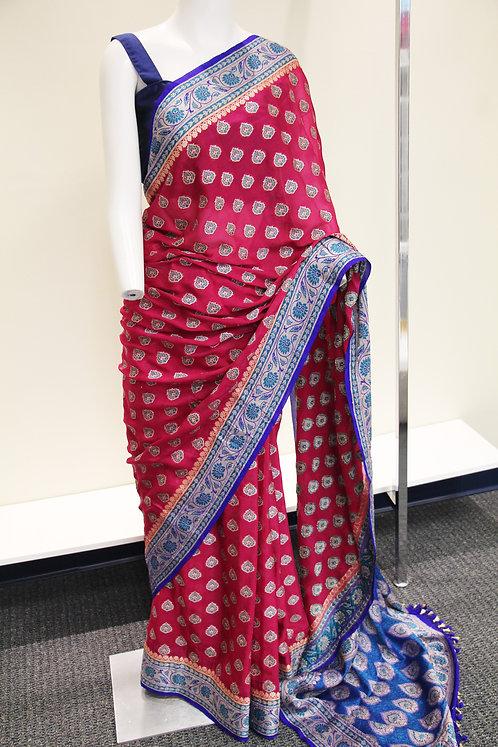 Banarasi Pure Chiffon Resham Weaved Saree