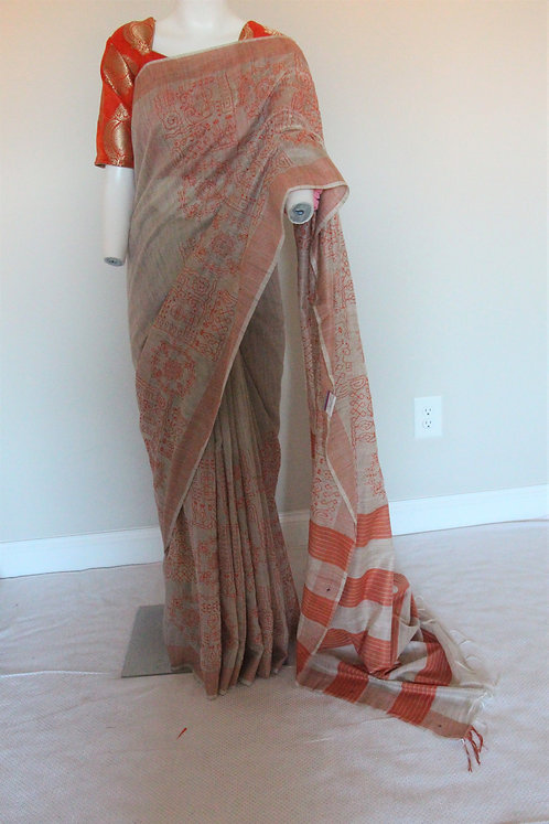 Pure Jute Silk Saree