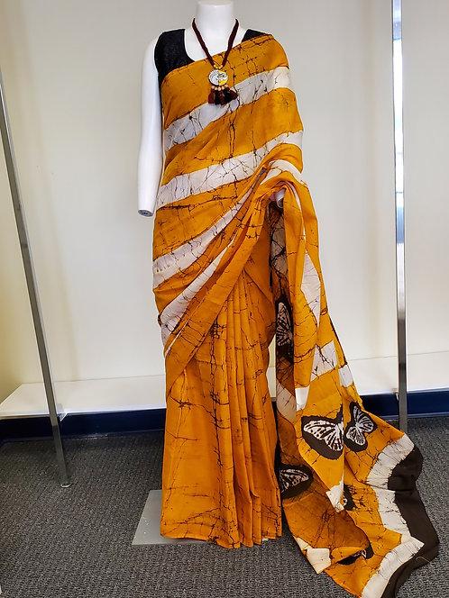 Batik Print Saree