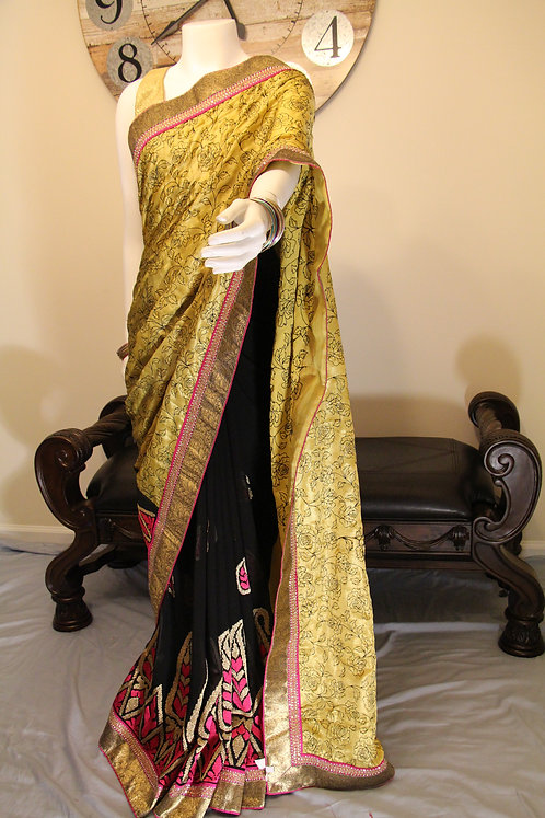 Designer Half and Half Saree