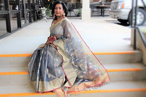 Pure Chanderi Tissue Silk Handloom Banarasi