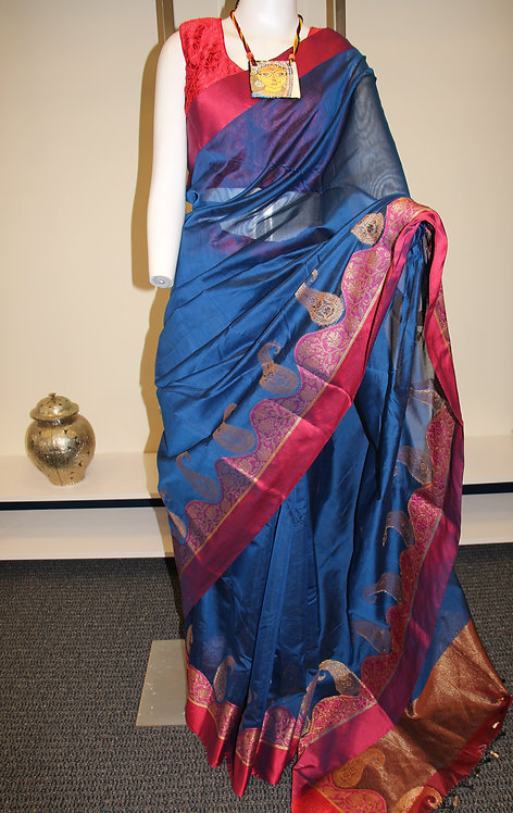 Kanchipuram cotton silk saree