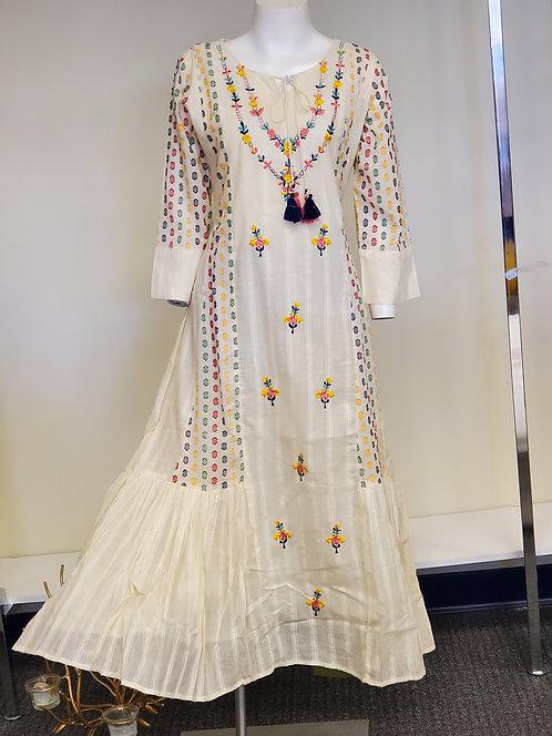 Cotton Tiered Fusion Dress / Kurti
