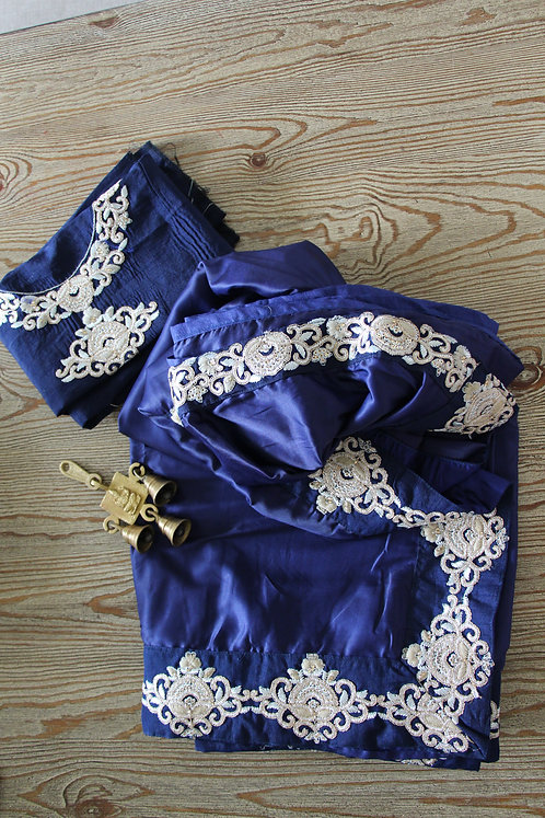 Indigo Blue Fancy Saree