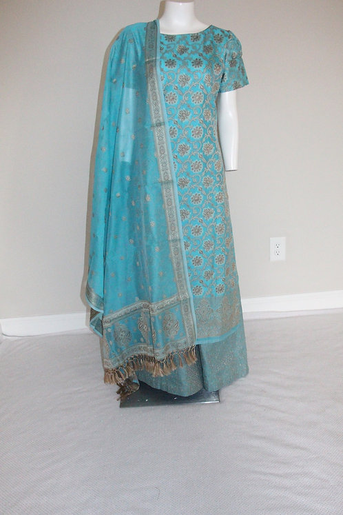 Cotton Banarasi Suit with Weaving all over