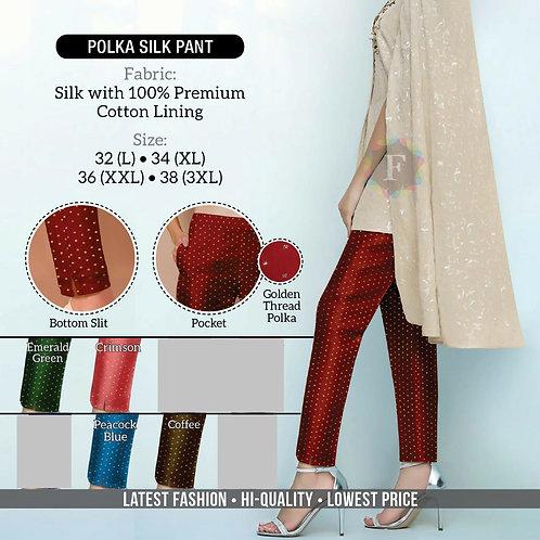 Polka Dot Silk Pant