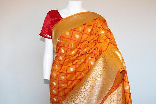 Semi Silk With Zari Work Saree