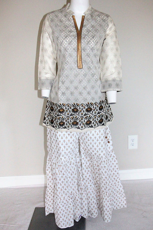 Poly Cotton Straight Kurti