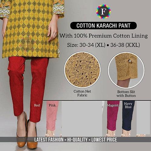 Cotton Karachi Pants