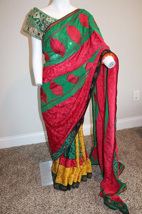 Pure Crepe Printed Silk Saree