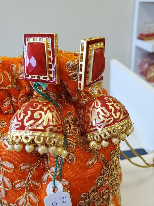 Gold Metallic Earrings