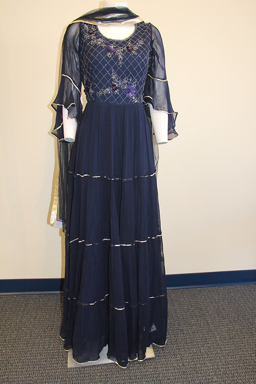 Beautiful Navy Blue Gown