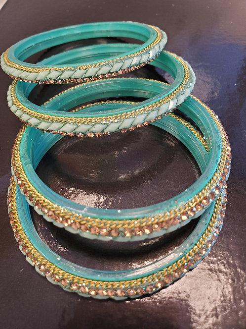 Seagreen Glass Bangles