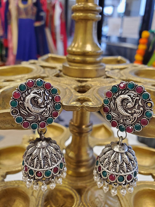 German Silver big Jhumkis / earrings