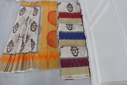 Kalamkari Pure Cotton Saree