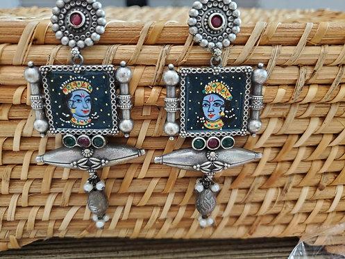 Unique German Silver Earrings