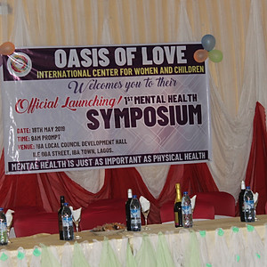Official Launching of OLIC/1st Mental Health Symposium held at Iba Town Hall.