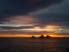 Sunset at Westman Islands
