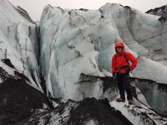 Crevasse at Sólheimajökull