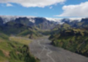 Thorsmork, Iceland, glaciers, waterfalls