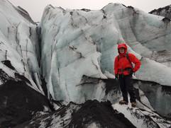 Crevasse at Sólheimajökull Glacier
