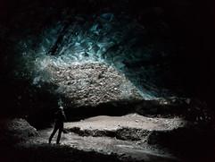 Dark blue Ice Cave