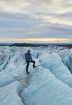 Crevassed glacier