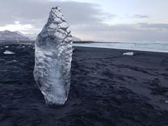 Black sand and Ice Diamonds