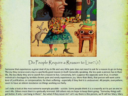 Do People Require a Reason to Live? (1)