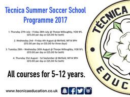 Breaking - Summer Soccer Schools