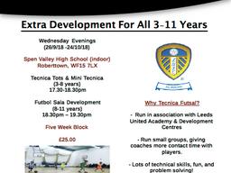 Futsal Partnership With Leeds United Academy
