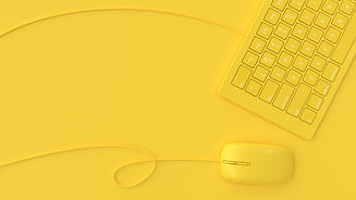 mouse-beside-keyboard-yellow-color-on-ye