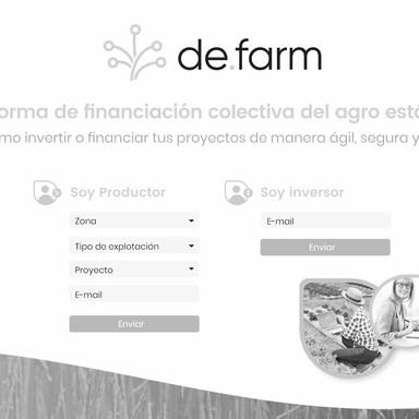 Landing proyecto de.farm