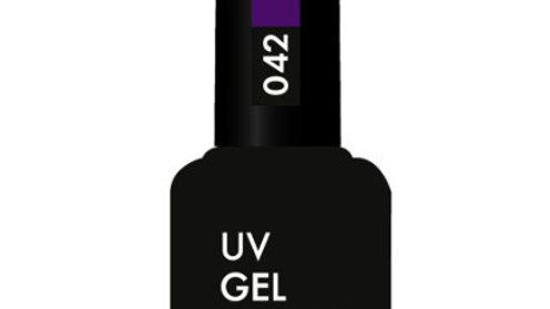 OLYSTYLE Гель-лак д/ногтей тон 042 фиолетовый с шиммером