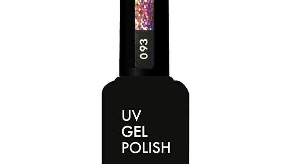 OLYSTYLE гель-лак д/ногтей тон 093 нежно-розовый глиттер