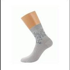 """D28 носки жен. BAMBOO """"орнамент по паголенку"""""""