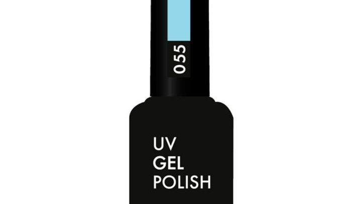 OLYSTYLE Гель-лак д/ногтей тон 055 небесно-голубой